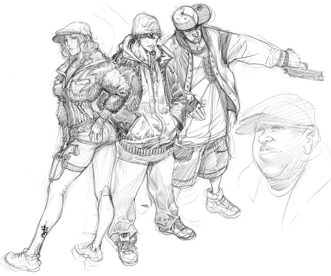 Character Sketches | Sketches | Pinterest | All points bulletin ...