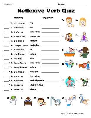 56 Best Reflexive Verbs images | Learning spanish, Teaching ...