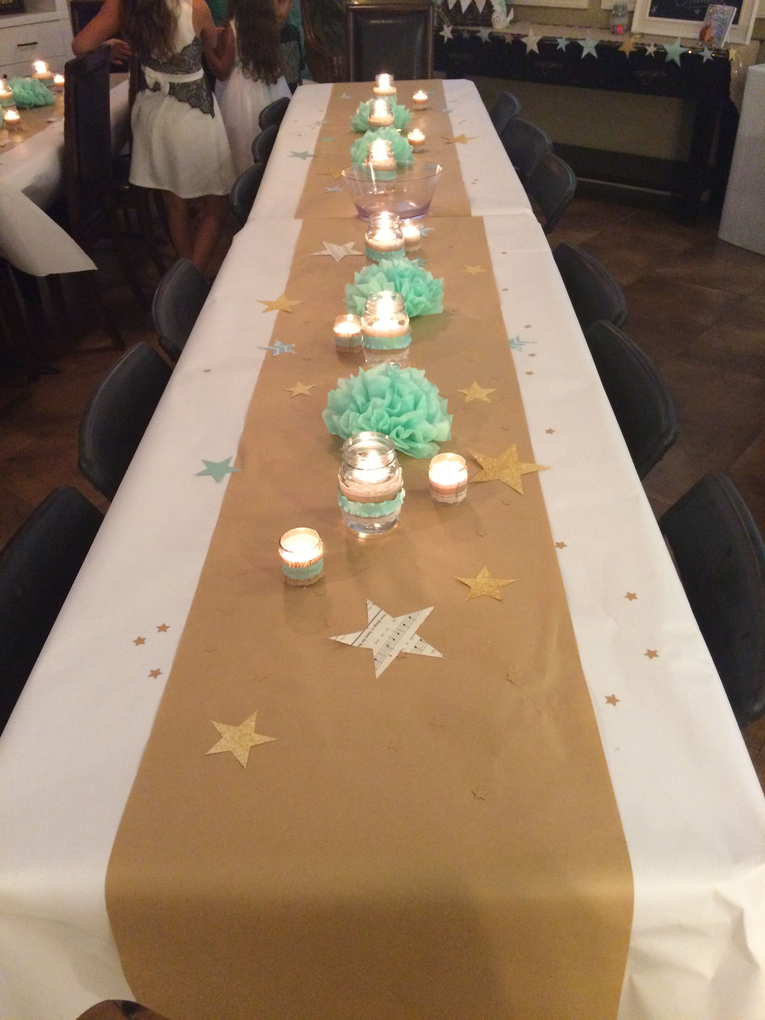 Twinkle Twinkle Little Star Baby Shower table decorations