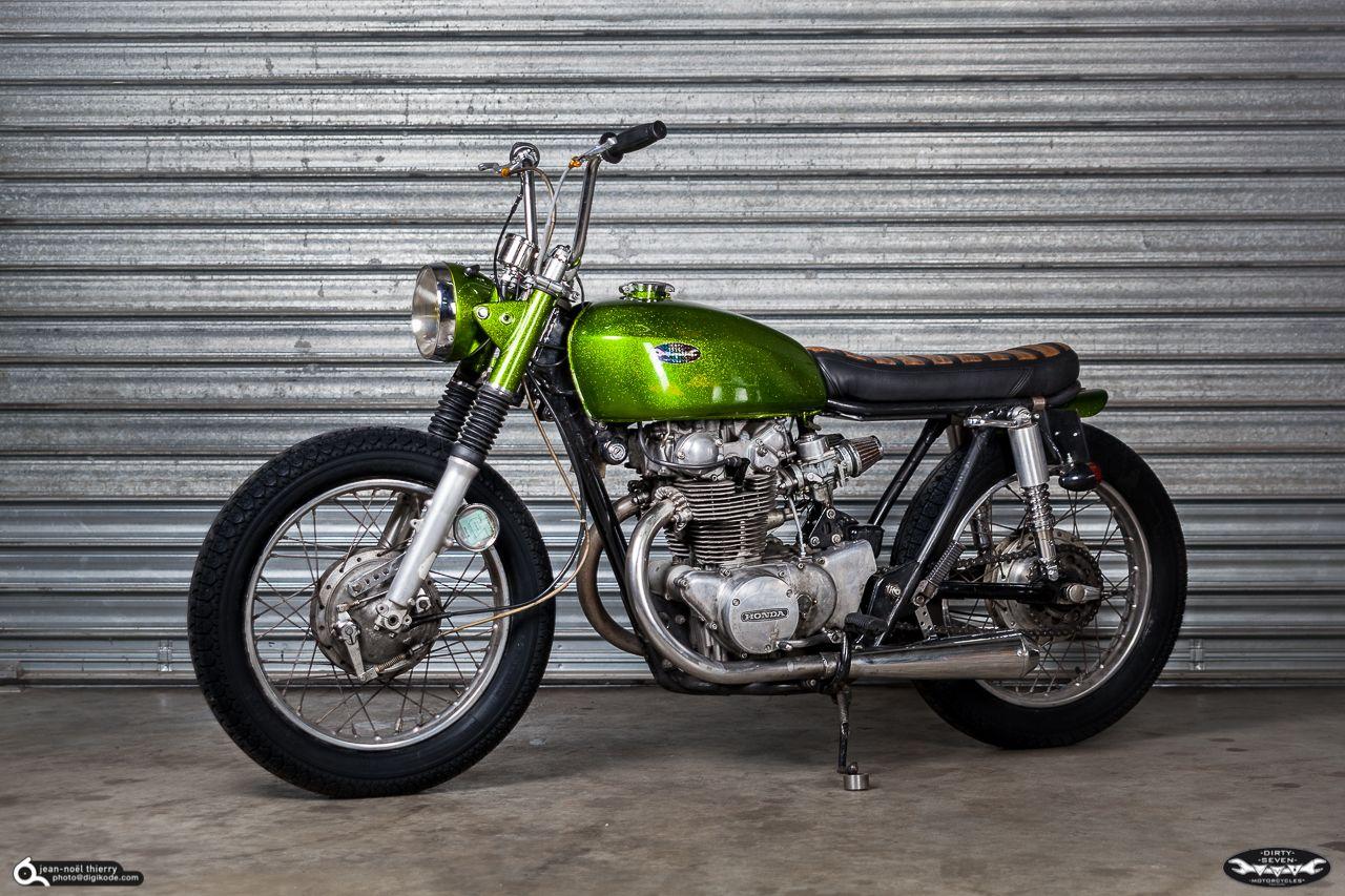 honda cb 450 bobber by dirty seven derbe mopeds pinterest