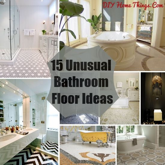 Awesome Unusual Bathroom Floor Ideas Diy Home Things Unique Covering Image