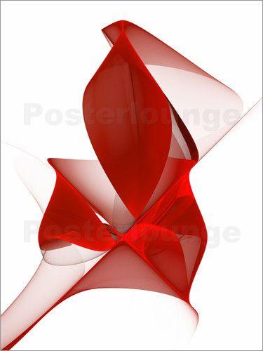 Fraktal Das Licht in sich (rot): Poster & Kunstdruck von gabiw Art