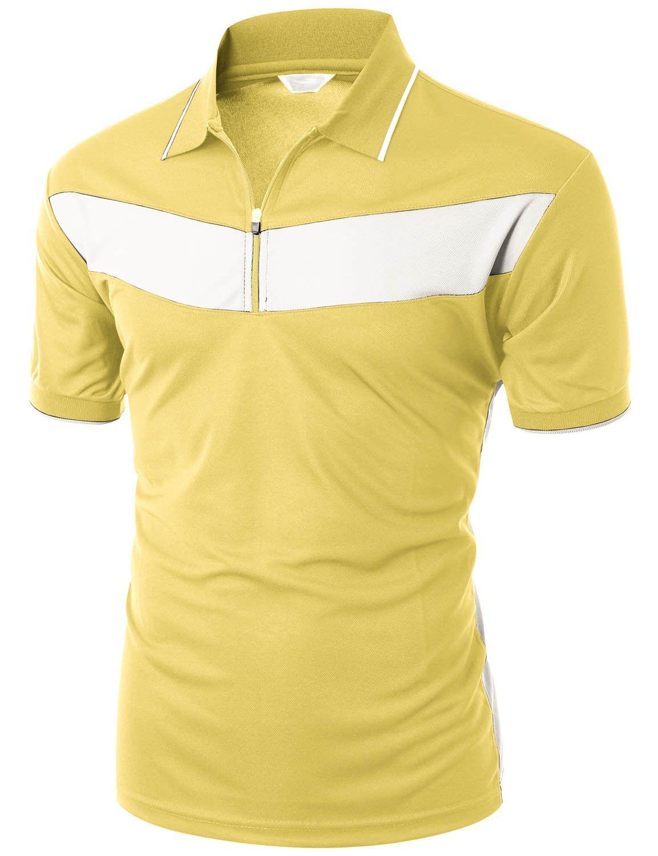 xpril cuello de tela diseño deportivo Cool Max 2Tone para hombre Polo de manga corta Camisetas