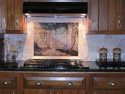 Kitchen Stove Backsplash Tile Mural Kitchen Tile Mural Backsplash Tile Mural Custom Tile Mural