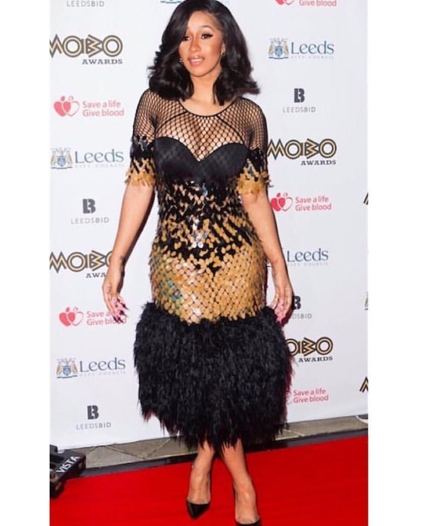 Cardib looks stunning moboawards team curtains insta pinterest