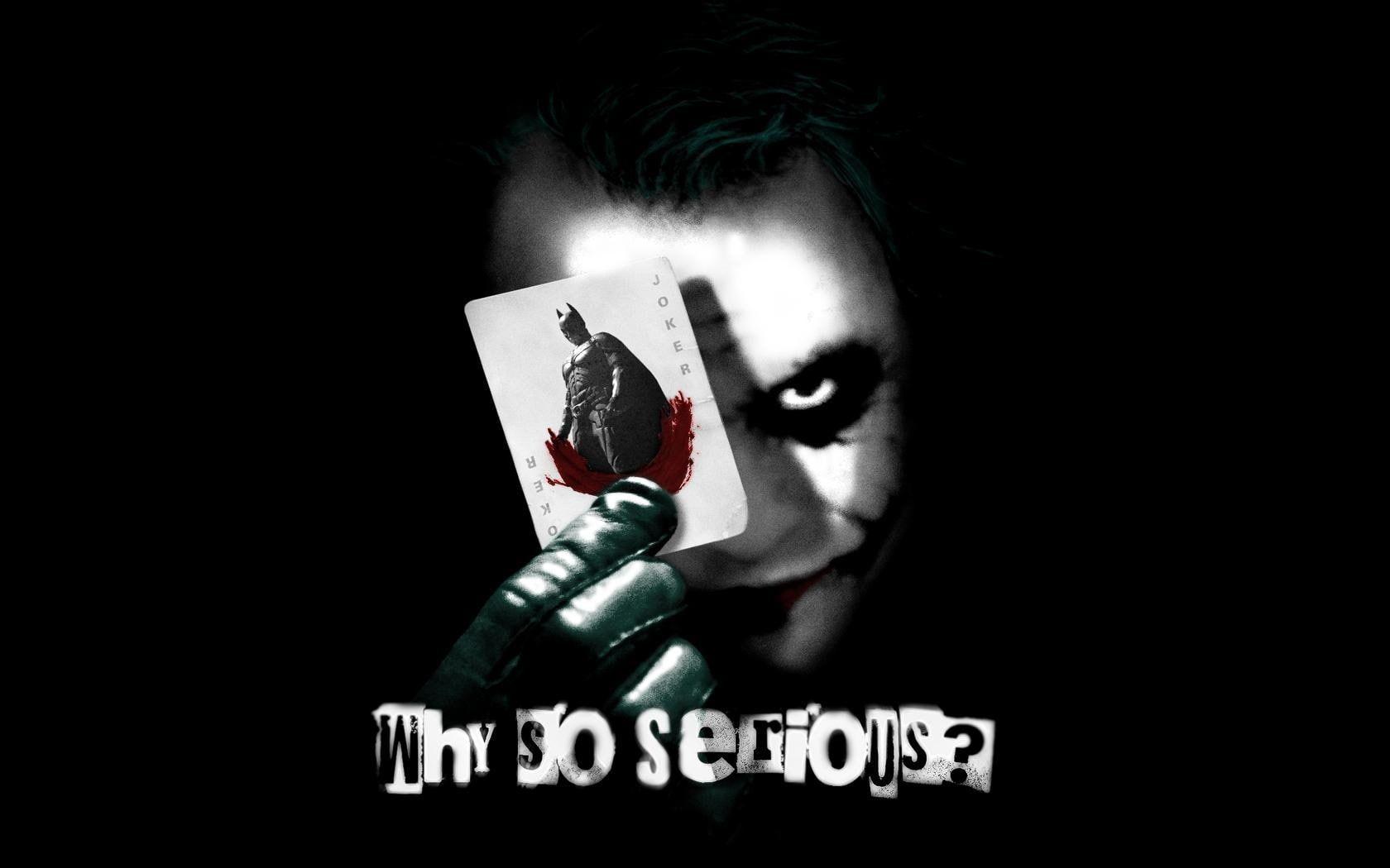 Why So Serious Joker Batman Card Heath Ledger Movies 720p Wallpaper Hdwallpaper Deskto In 2021 Joker Wallpapers Heath Ledger Joker Wallpaper Heath Ledger Joker