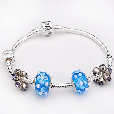 Luxury DIY European 925 Silver Charms Bracelet Bangle For Women Christmas 1869