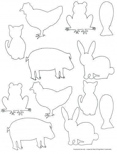 Sablony Animal Templates Art For Kids Animal Silhouette