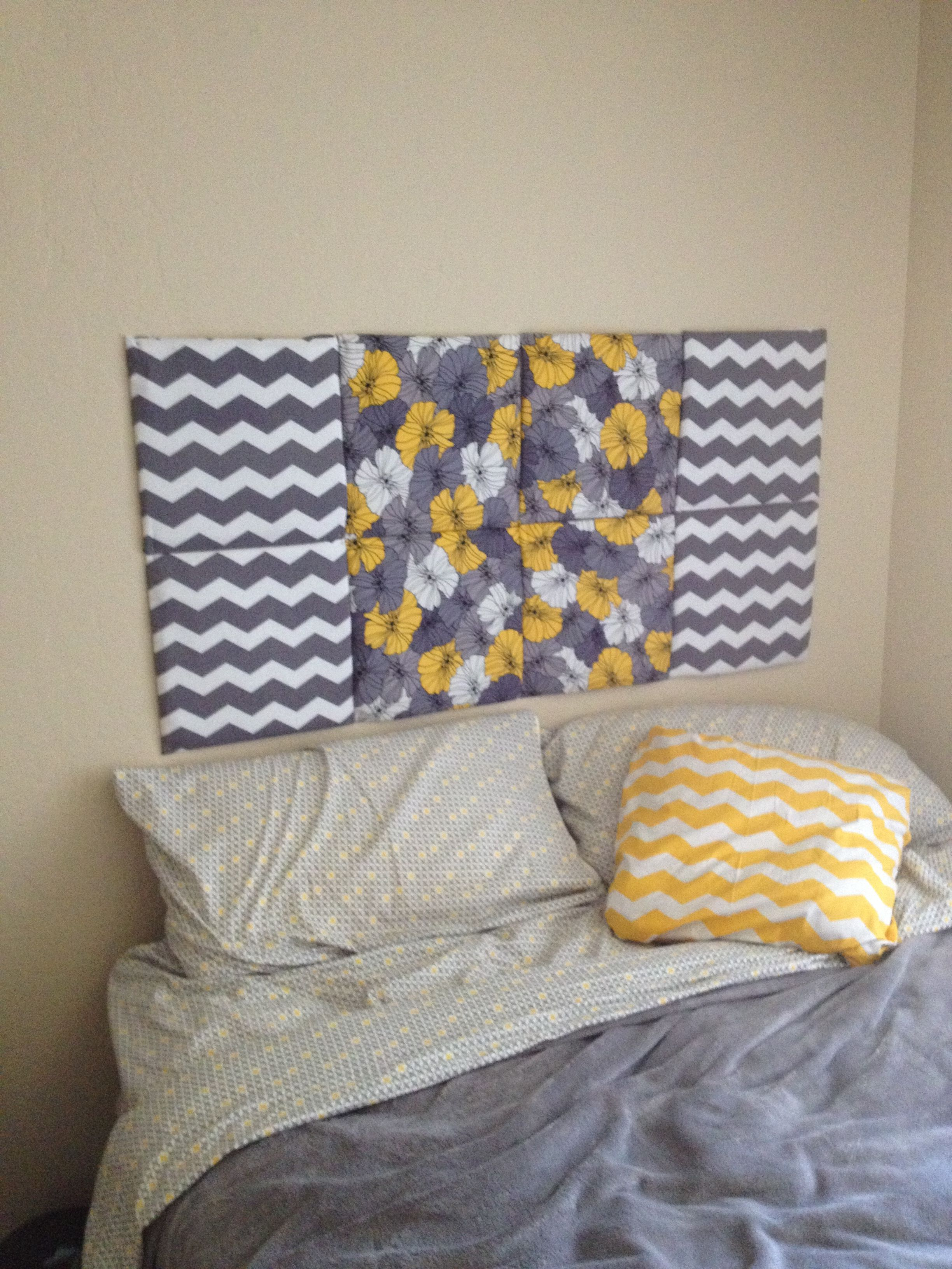Hobby Lobby Chevron Wall Decor : Diy headboard cork board quilt stuffing and fabric