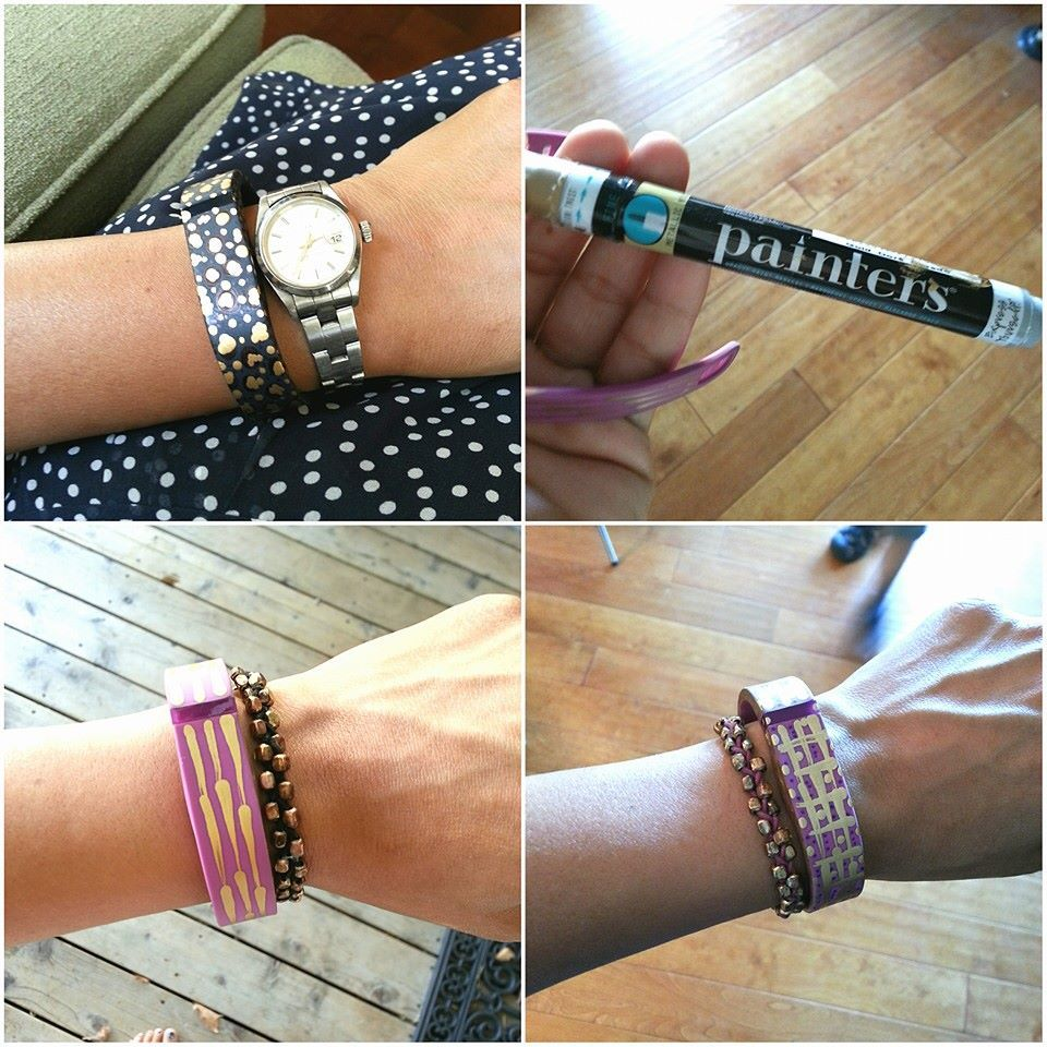 Fitbit Band Diy Makeover Using Elmer S Painters Pens And Sharpies Fitbit Bling Fitbit Bands Diy Fitbit Bands