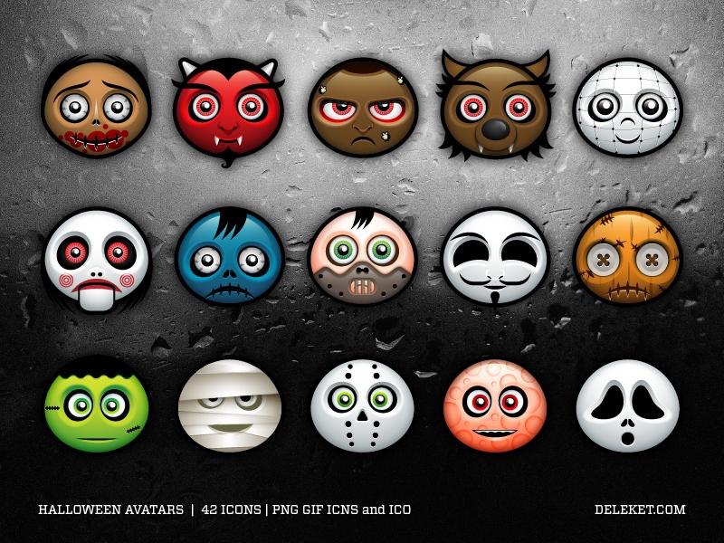 Halloween Avatars by deleket on deviantART [download zip