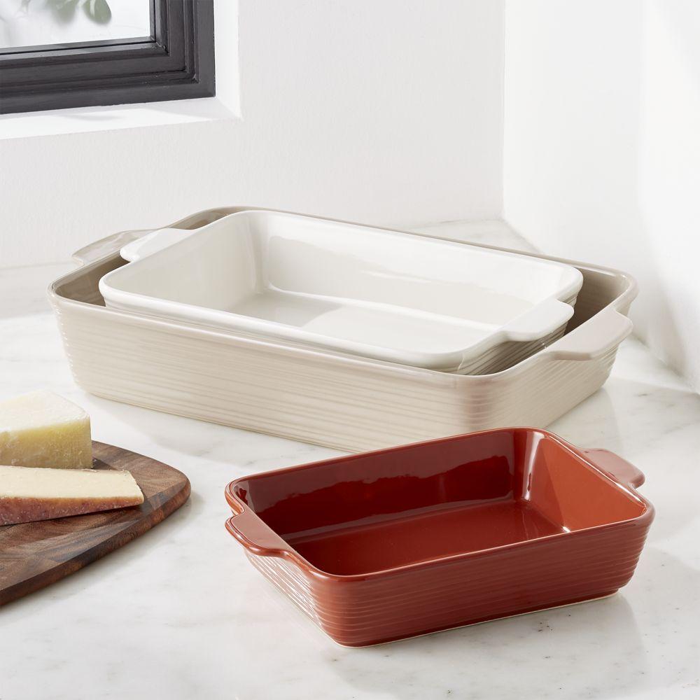 Bristol Baking Dishes Set Of 3 Baked Dishes Ceramic Baking
