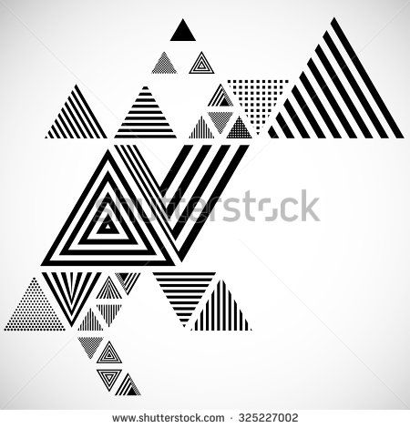 Vector Hipster Triangle Background Pattern Abstract Modern