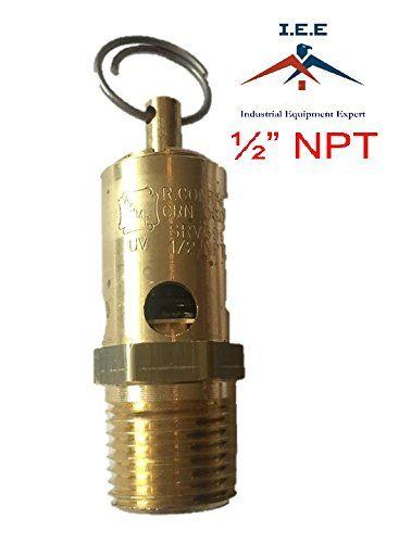 "1//4/"" NPT 175 PSI Air Compressor Safety Relief Pressure Valve Tank Pop Off New"