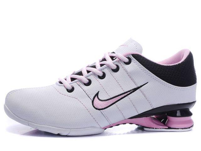 quality design 62a60 b077f ... good chaussures nike shox r2 blanc rose noir nike12152 50.87 3e193 4acac