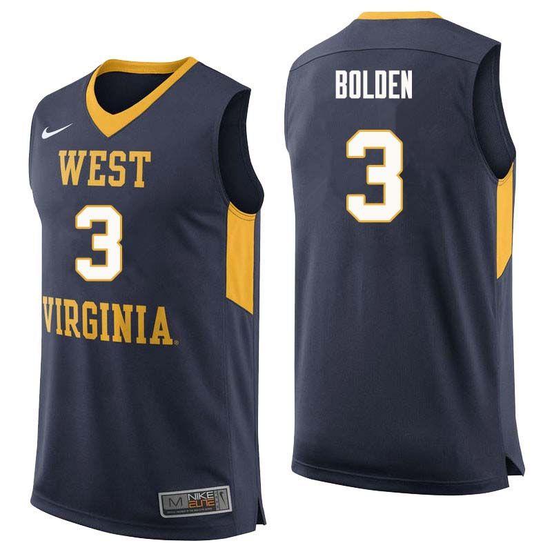 Men 3 James Bolden West Virginia Mountaineers College Basketball Jerseys Sale Navy College Basketball Jersey Basketball Jersey Jersey