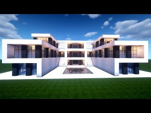 Easy Minecraft Modern House Tutorial How to Build a House in Minecraft 44