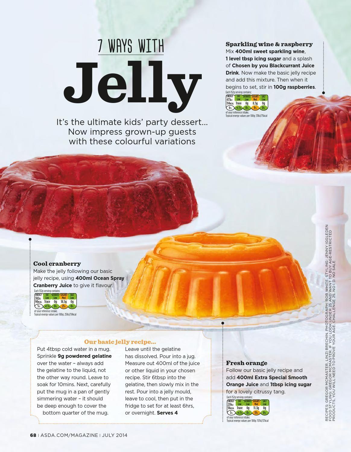 Asda Magazine July 2014 Asda Recipes Basic Jelly Recipe Jelly Recipes