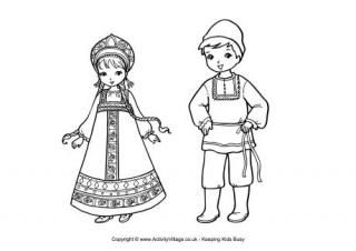 Russian Children Coloring Page Winter Olympics Crafts For