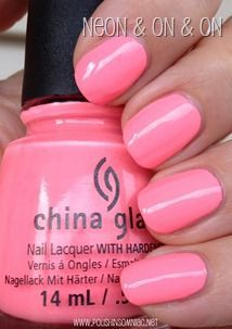 Glaze Sunsational - The Cremes ♥ Swatches and Review China Glaze Neon & On & On- LOVE THIS COLOR!!China Glaze Neon & On & On- LOVE THIS COLOR!!