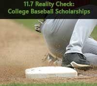 11 7 Reality Check College Baseball Scholarships College Baseball College Rankings Scholarships