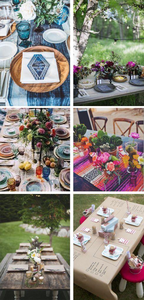 Decoracion cenas con amigos fiestas al aire libre - Ideas cena amigos ...