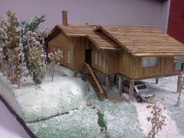 Maqueta caba a en la nieve maqueta pinterest house - Cabanas de madera en la nieve ...