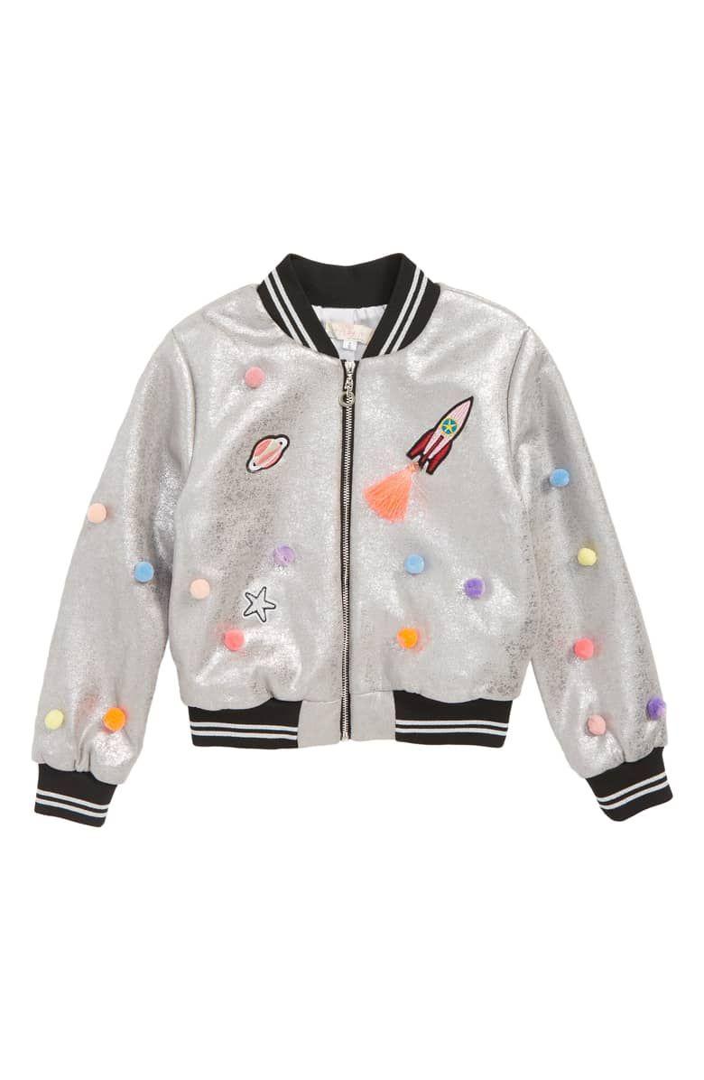 Little Girls Lovely Denim Coat Cartoon Pattern Sequins Jacket Outerwear