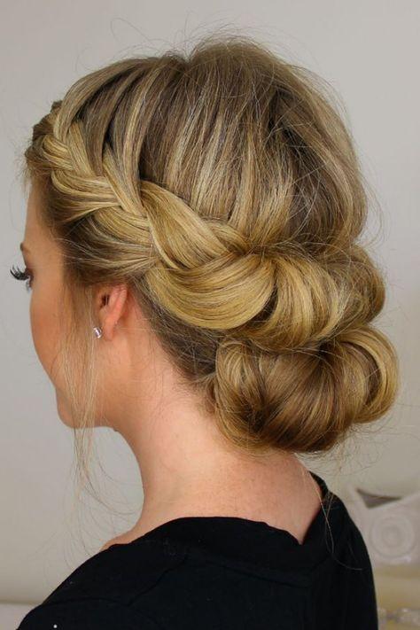 Peinados con un efecto wow! Los 50 peinados de boda más bellos para novias, damas de honor y damas de honor
