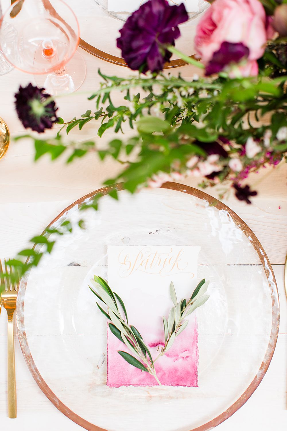 Modern Grecian Inspired Wedding Ideas | Place setting, Wedding and ...