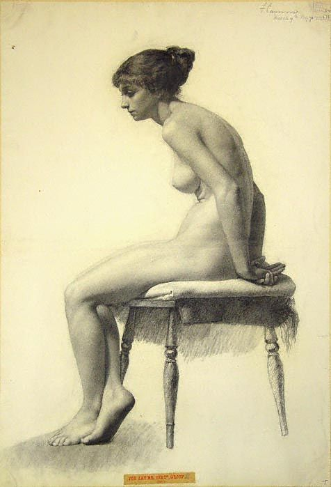 figure Nude models female drawing