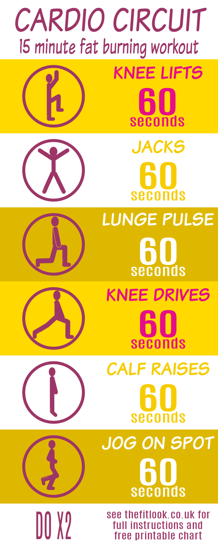 Cardio Workout 15 Minute Fitness Circuit With Free Download 15 Minute Workout Cardio Workout Cardio Circuit