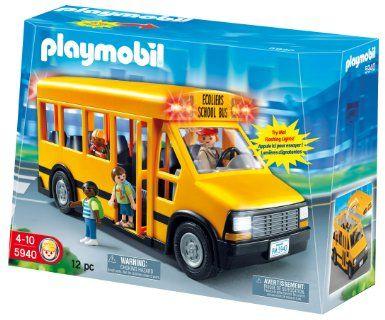 Amazoncom Playmobil School Bus Toys Games For Bella