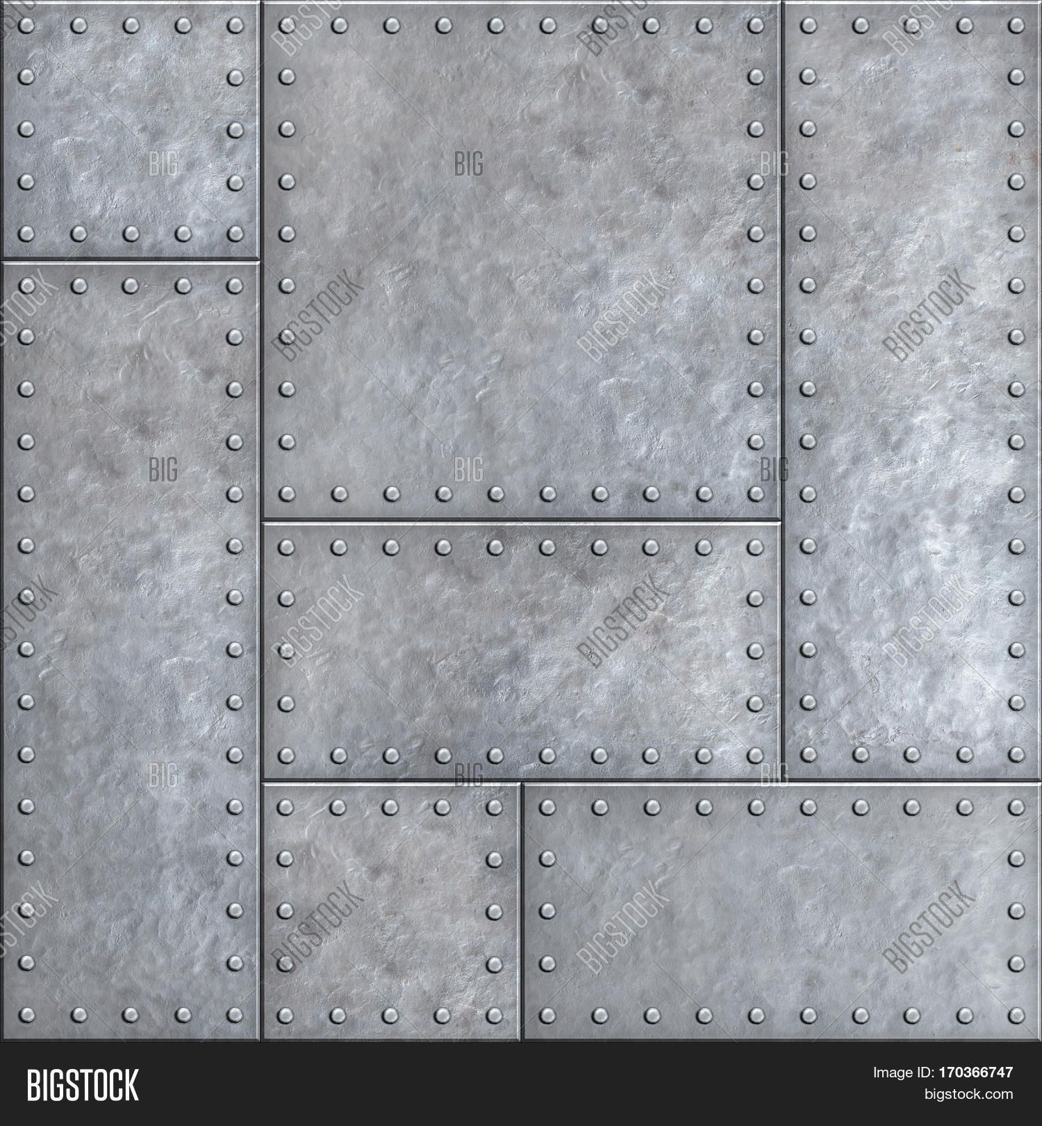 Old Metal Plates With Rivets Seamless Background Or Texture Metal Texture Material Textures Steel Textures