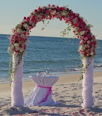 10 pretty ideas for using wedding arches beautiful outdoor