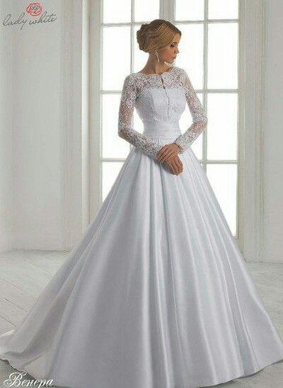 Pin de Pro Modesty en Modest Wedding Dresses | Pinterest | Vestidos ...