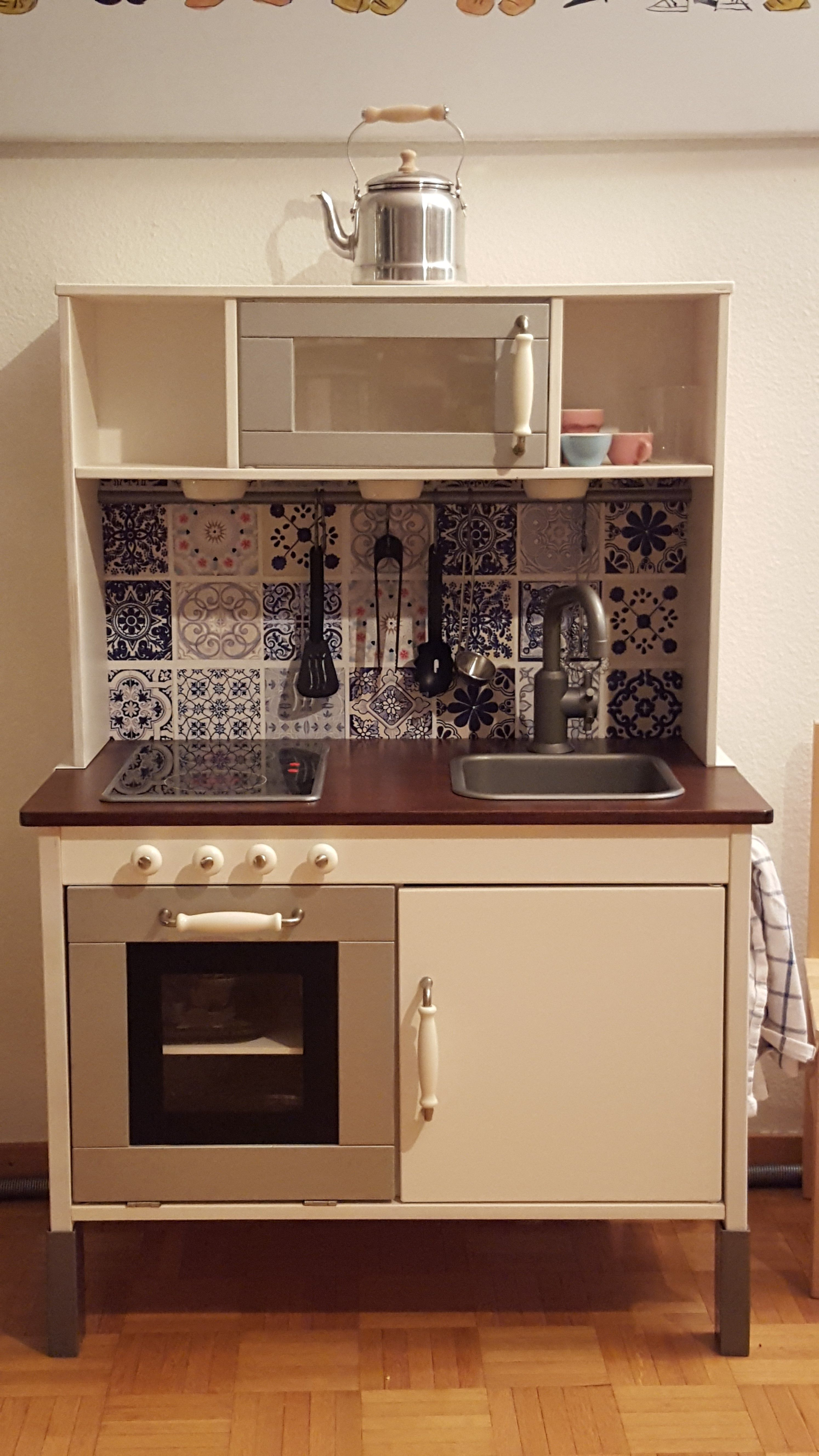 Ikea Duktig Children Kitchen Makeover   Another Makeover For Inspiration.  Love The U0027tilesu0027
