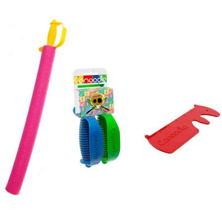 Canoodle Toy Pirate Noodle Sword With Twin Sword Handles And Noodle