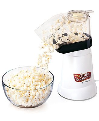 Presto Orville Redenbacher S Hot Air Popper By Presto Reviews Small Appliances Kitchen Macy S Air Popped Popcorn Recipe Food Substitutions Popcorn Recipes Healthy