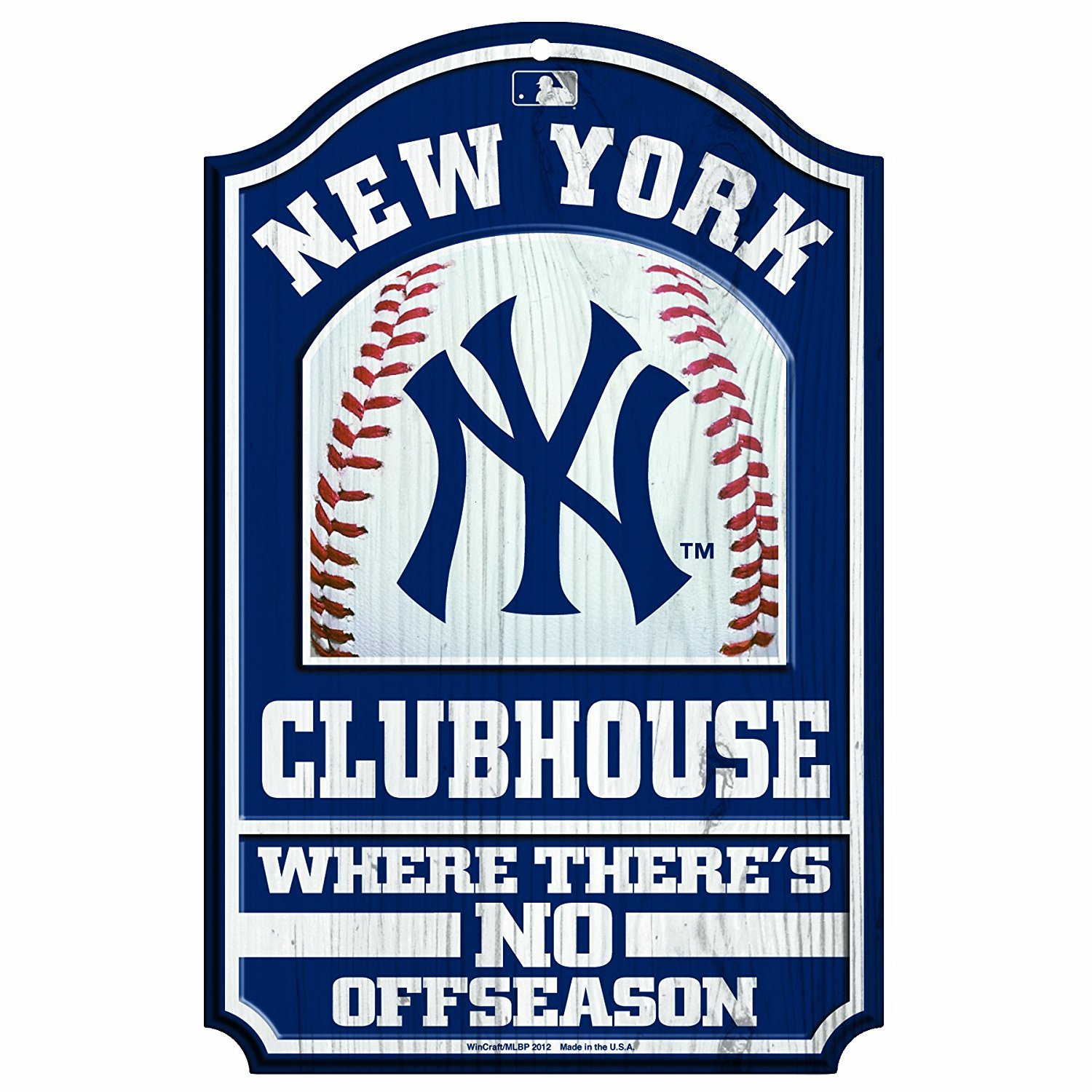 The New York Yankees Hardboard Wood Signs Are 1 4 Thick Decorated With Quality Graphics To Resemble An New York Yankees New York Yankees Baseball Yankees Fan