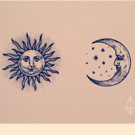 I Like This Moon And Stars But Without The Face Tattoos Moon Tattoo Cute Tattoos