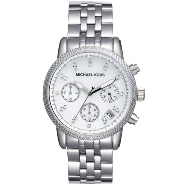 d1159b8afff6 Pre-owned Michael Kors 5020 Chronograph Watch ( 99) ❤ liked on Polyvore