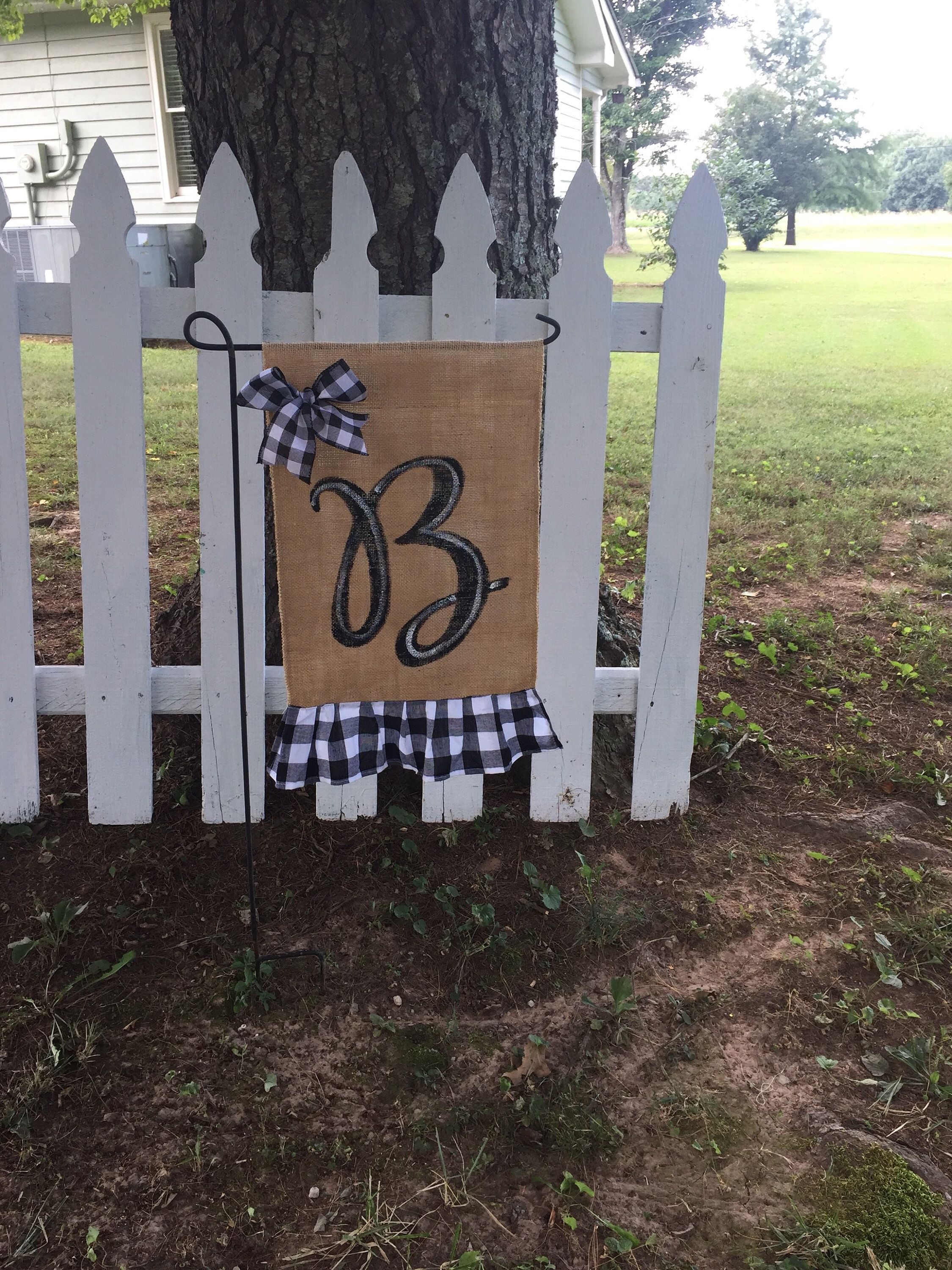 Excited To Share This Item From My Etsy Shop Farmhouse Buffalo Plaid Decor Burlap Yard Flag Fall Halloween A Plaid Decor Buffalo Plaid Decor Burlap Yard Flag