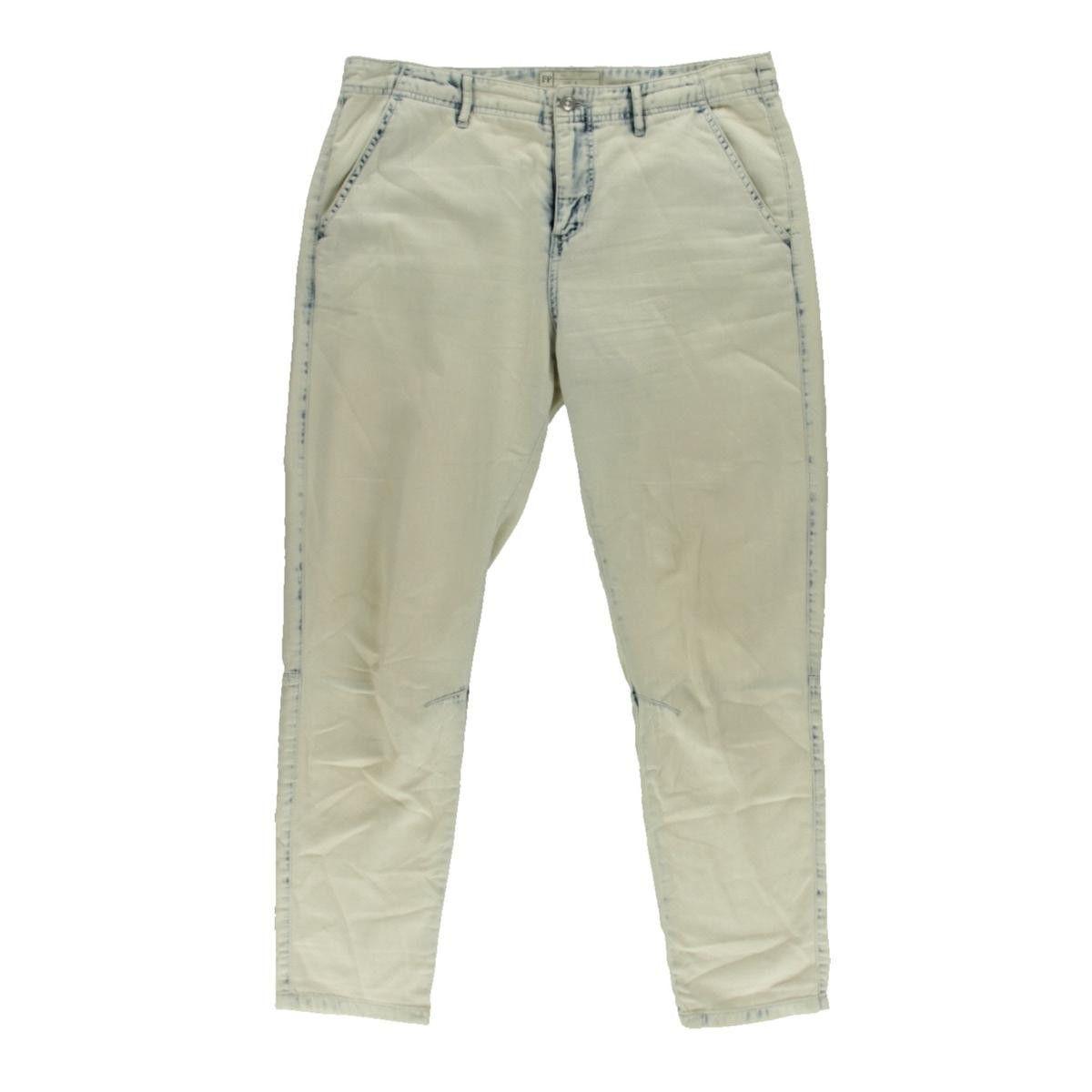 Free People Womens Chambray Denim Trouser Pants