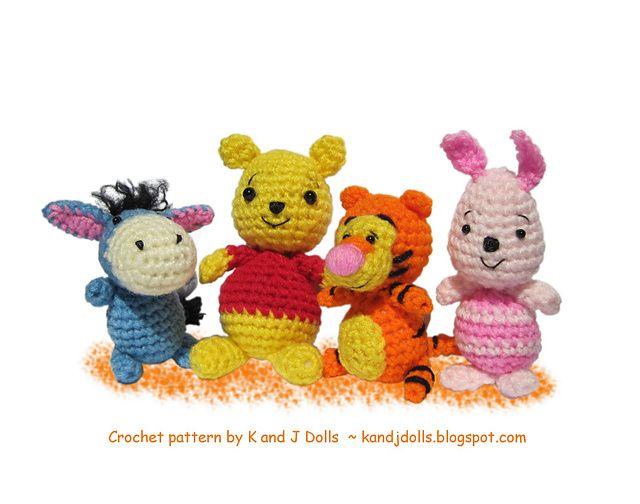Free Tigger Amigurumi Pattern : Ravelry pooh bear piglet eeyore and tigger crochet pattern
