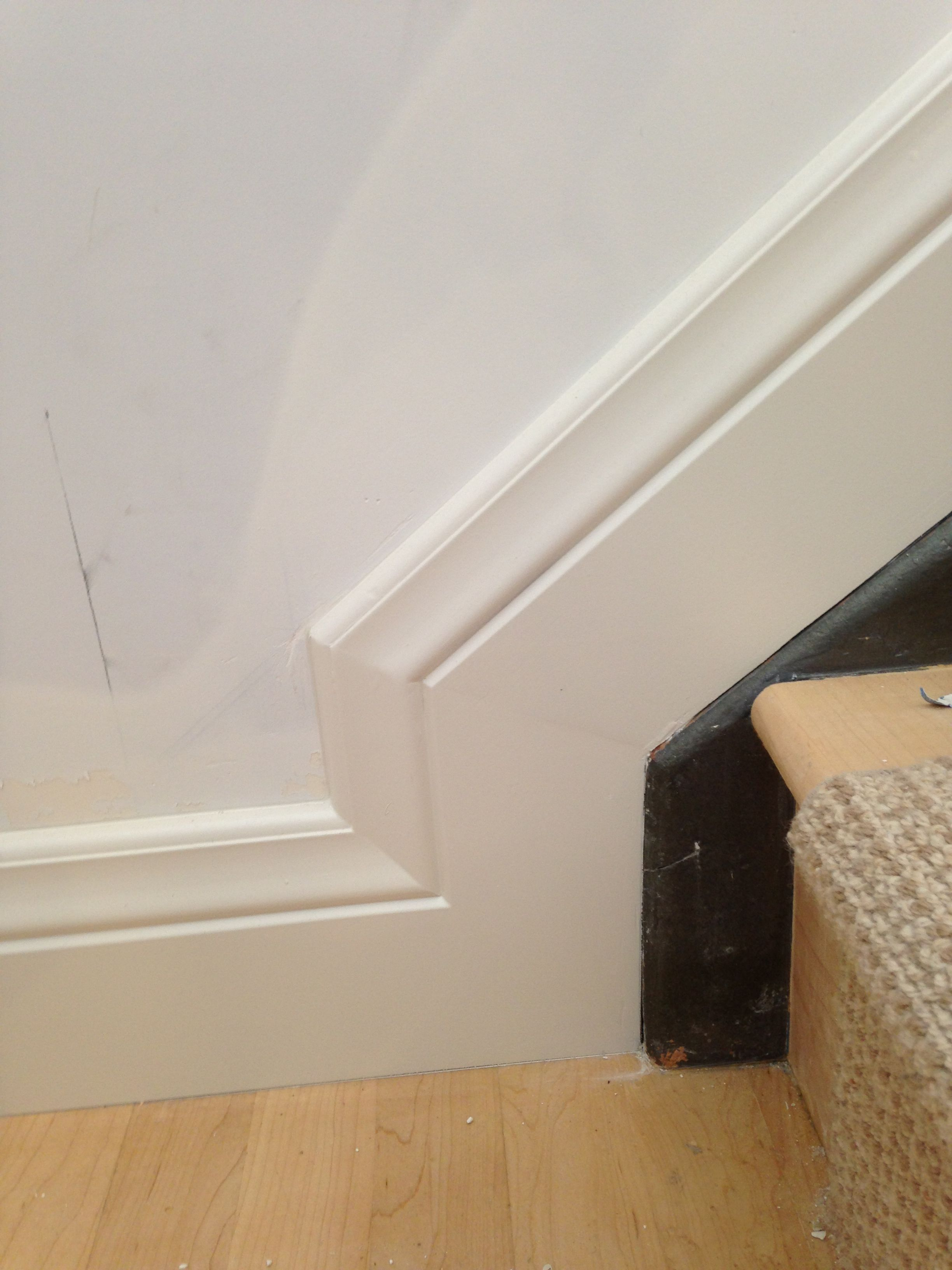 Finished Baseboard Stairs Trim Baseboard Styles Staircase Molding