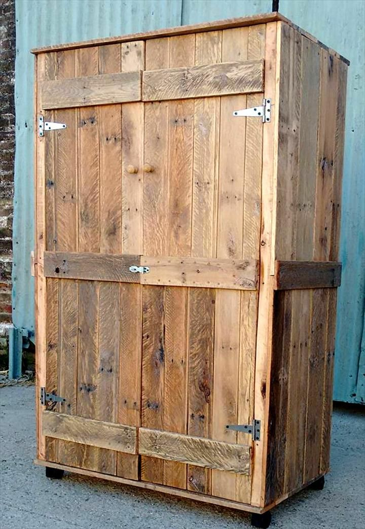 pallet wardrobe closet made from pallets my stuff and moods diy pallet bricolage. Black Bedroom Furniture Sets. Home Design Ideas