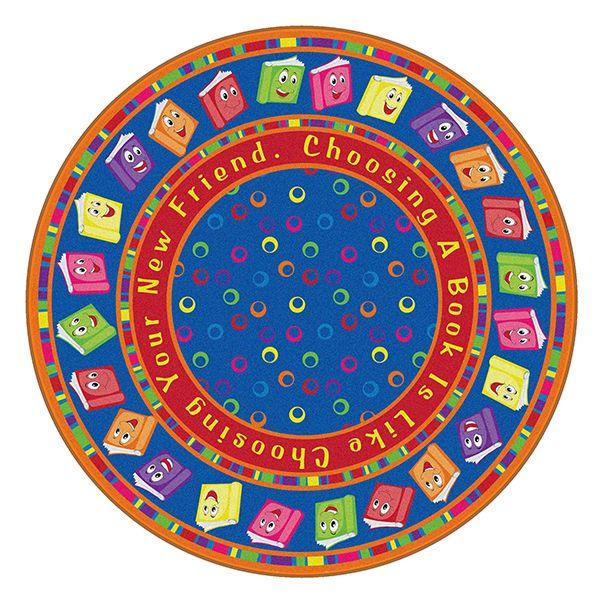 Joy Carpets Off Balance C Classroom Circle Time Rug 7 8 X 10 9