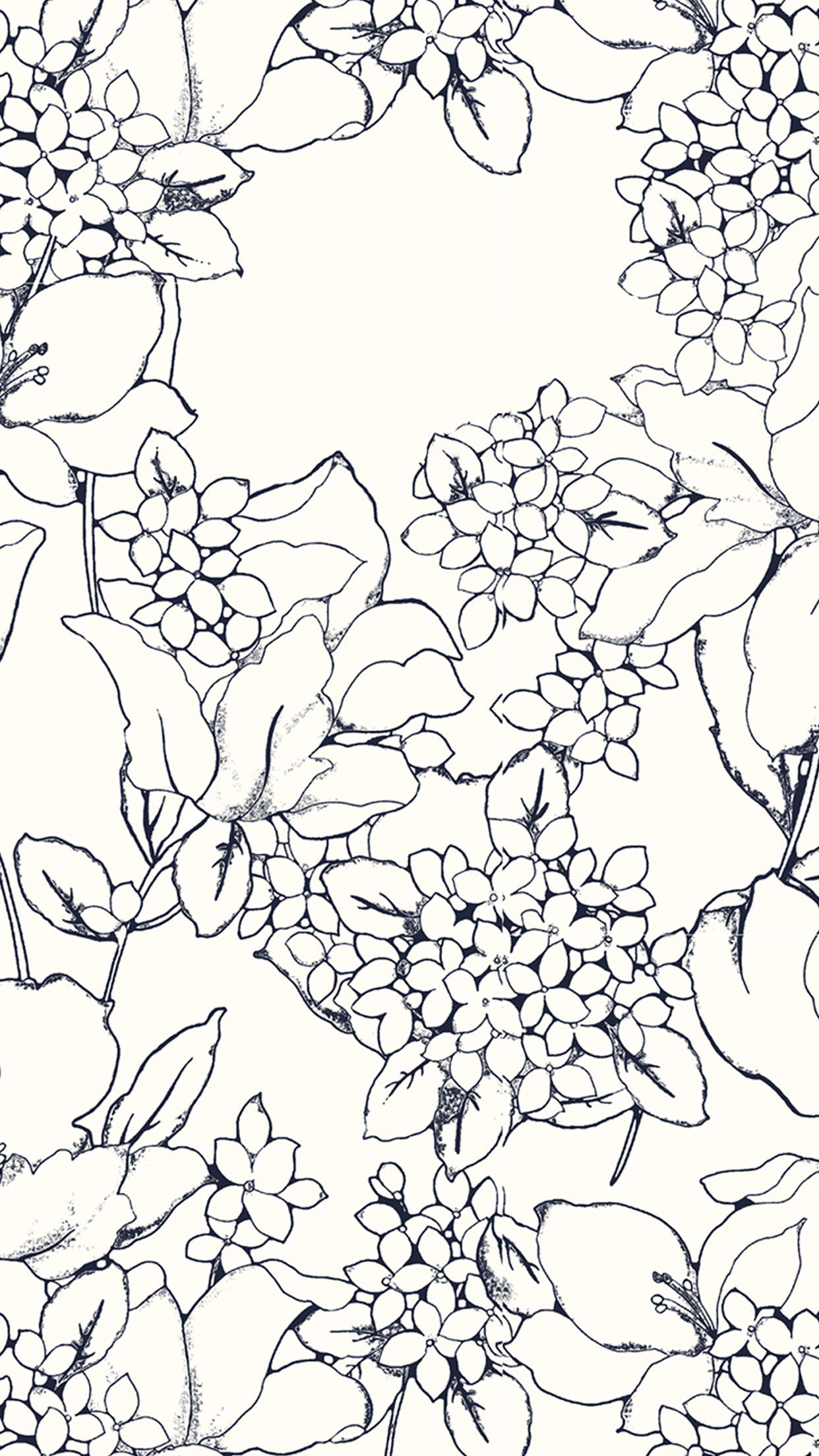 Blue and white floral pattern design ...