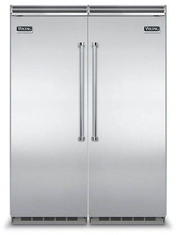 Viking Virefr2 Side By Side Column Refrigerator Freezer Set With 30 Inch Refrigerator And 30 Inch Freezer In Stainless Steel In 2020 Column Refrigerator 30 Inch Refrigerator Refrigerator Freezer